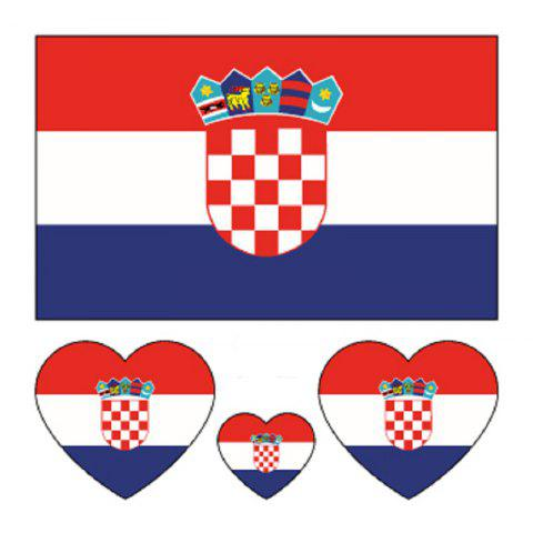 Affordable Croatian Flag Body Tattoo Stickers