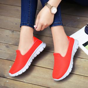 Retro Brief Breathable Color Block Lace Up Faddish Shoes -