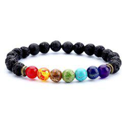Chakra Neutral Style sept couleur Fashion bijoux Bracelet volcanique -