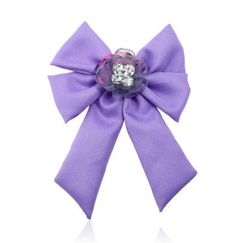 Outfits New Trendy Bow Crystal Ribbon Pins Brooches Tie