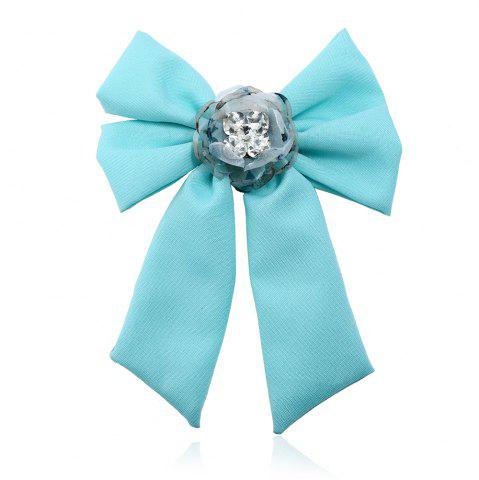 Outfit New Trendy Bow Crystal Ribbon Pins Brooches Tie