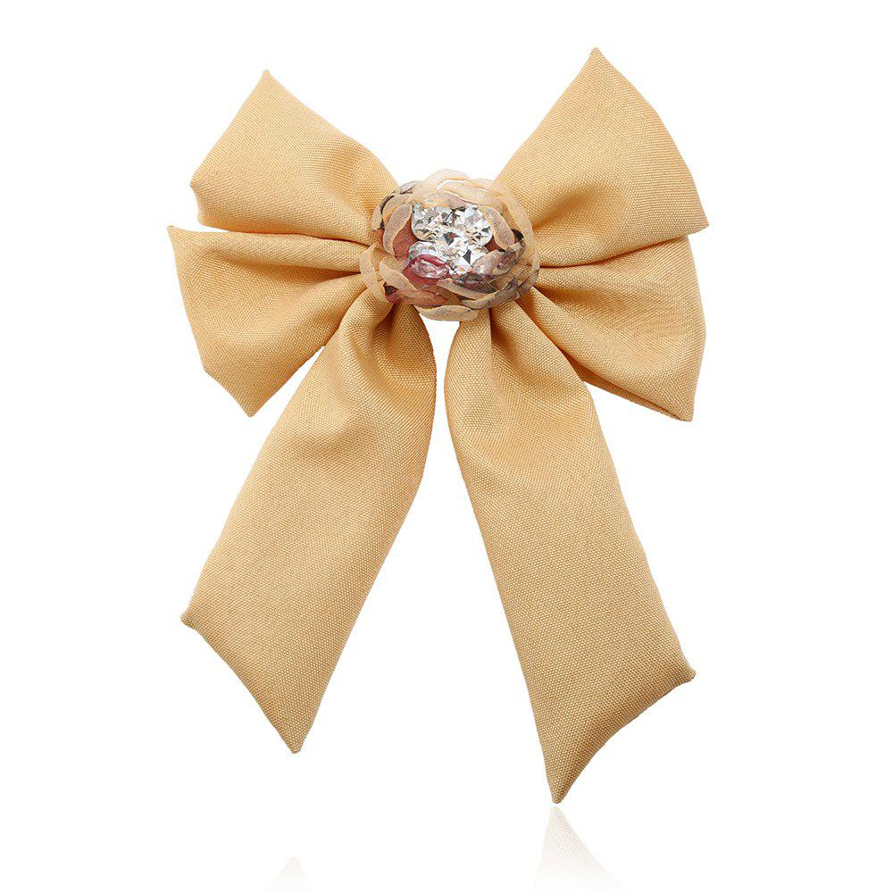 Affordable New Trendy Bow Crystal Ribbon Pins Brooches Tie