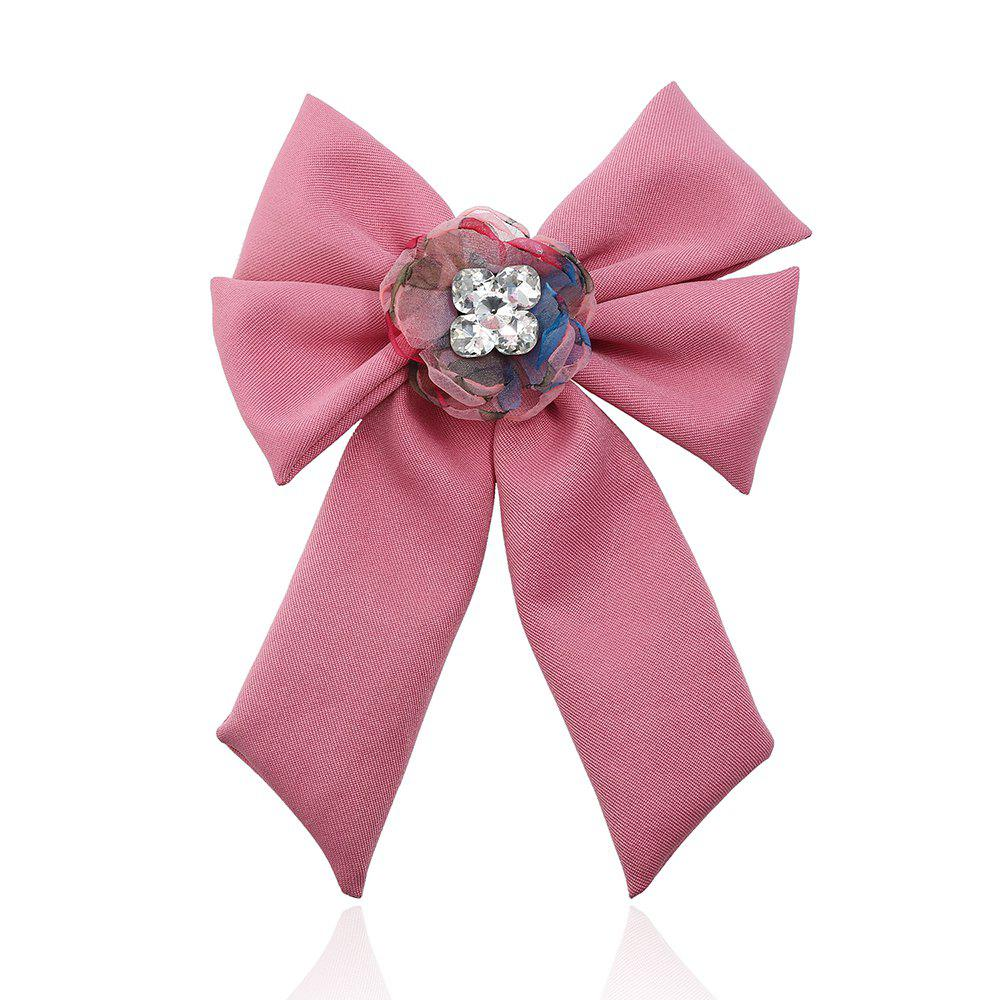 Trendy New Trendy Bow Crystal Ribbon Pins Brooches Tie