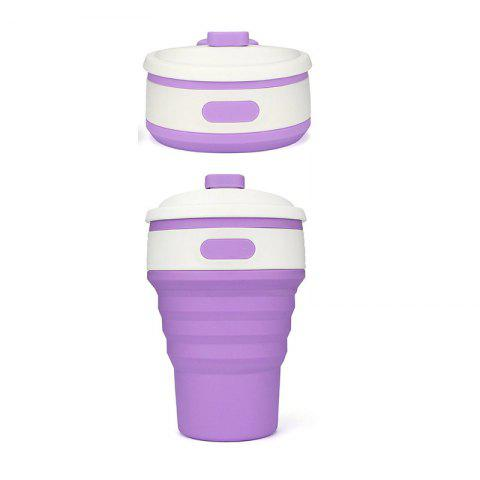 Discount 350ML Portable Silicone Collapsible Cup Folding Leak-proof Coffee Tea Mug