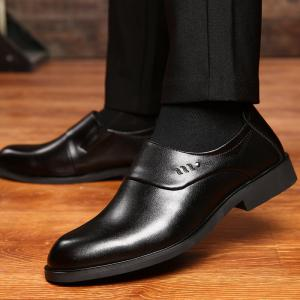 ZEACAVA Men Microfiber Leather Slip On Business Casual Shoes -