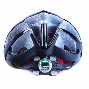 Mountain Bike Warning Lamp with Warning Insect Resistant Net Riding Helmet -