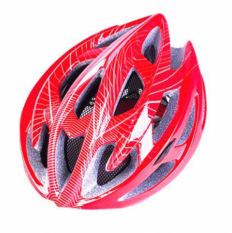 Online Mountain Bike Warning Lamp with Warning Insect Resistant Net Riding Helmet