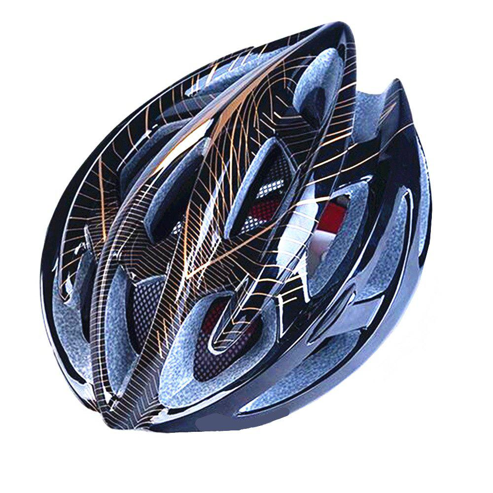 Outfit Mountain Bike Warning Lamp with Warning Insect Resistant Net Riding Helmet