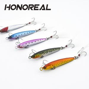 HONOREAL 14g 20g New Métal Jigging Fishing Lure Lead Fish avec VMC Crochet -