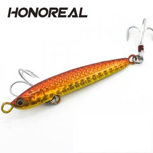 HONOREAL 14g 20g New Metal Jigging Fishing Lure Lead Fish with VMC Hook -