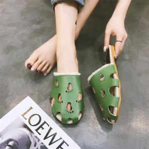 Fashionable Baotou Hollow Slippers -