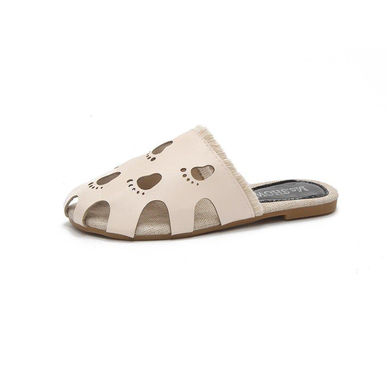 Online Fashionable Baotou Hollow Slippers