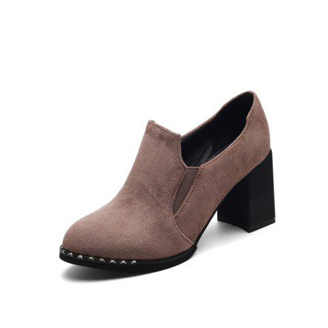 Buy Slack and High Heeled Leisure Professional Women Shoes