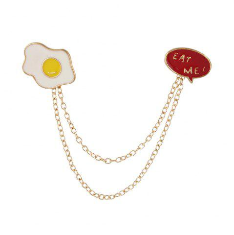 Hot Metal Badges White Red Enamel Egg Brooches