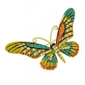 Colorful Rhinestone Butterfly Brooch Pins For Women -