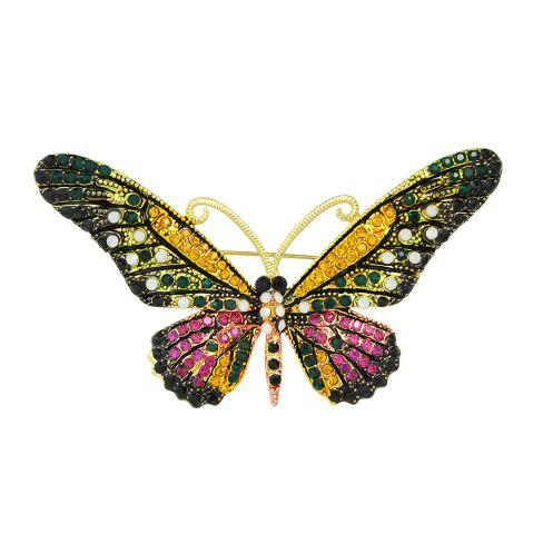 Discount Colorful Rhinestone Butterfly Brooch Pins For Women