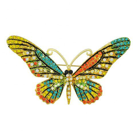Unique Colorful Rhinestone Butterfly Brooch Pins For Women