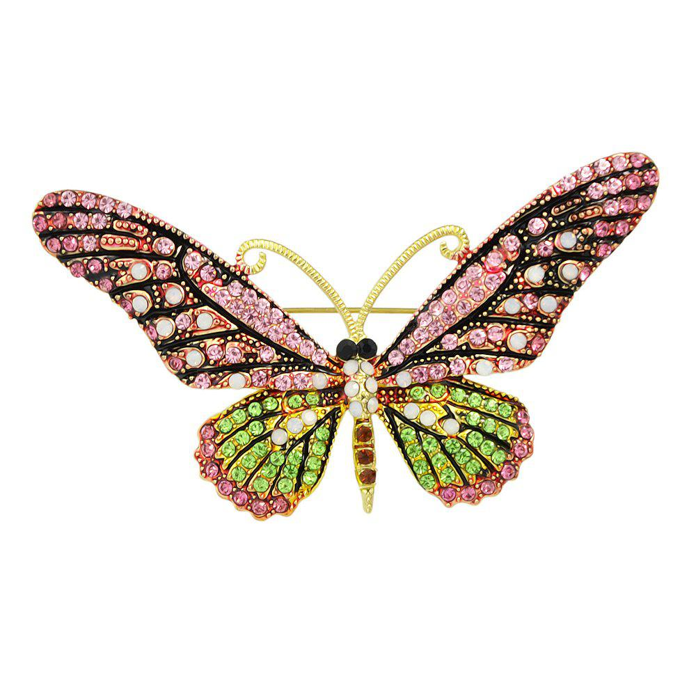 Trendy Colorful Rhinestone Butterfly Brooch Pins For Women