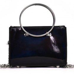 Hoops Handbag Shiny Shoulder Crossbody Bag -