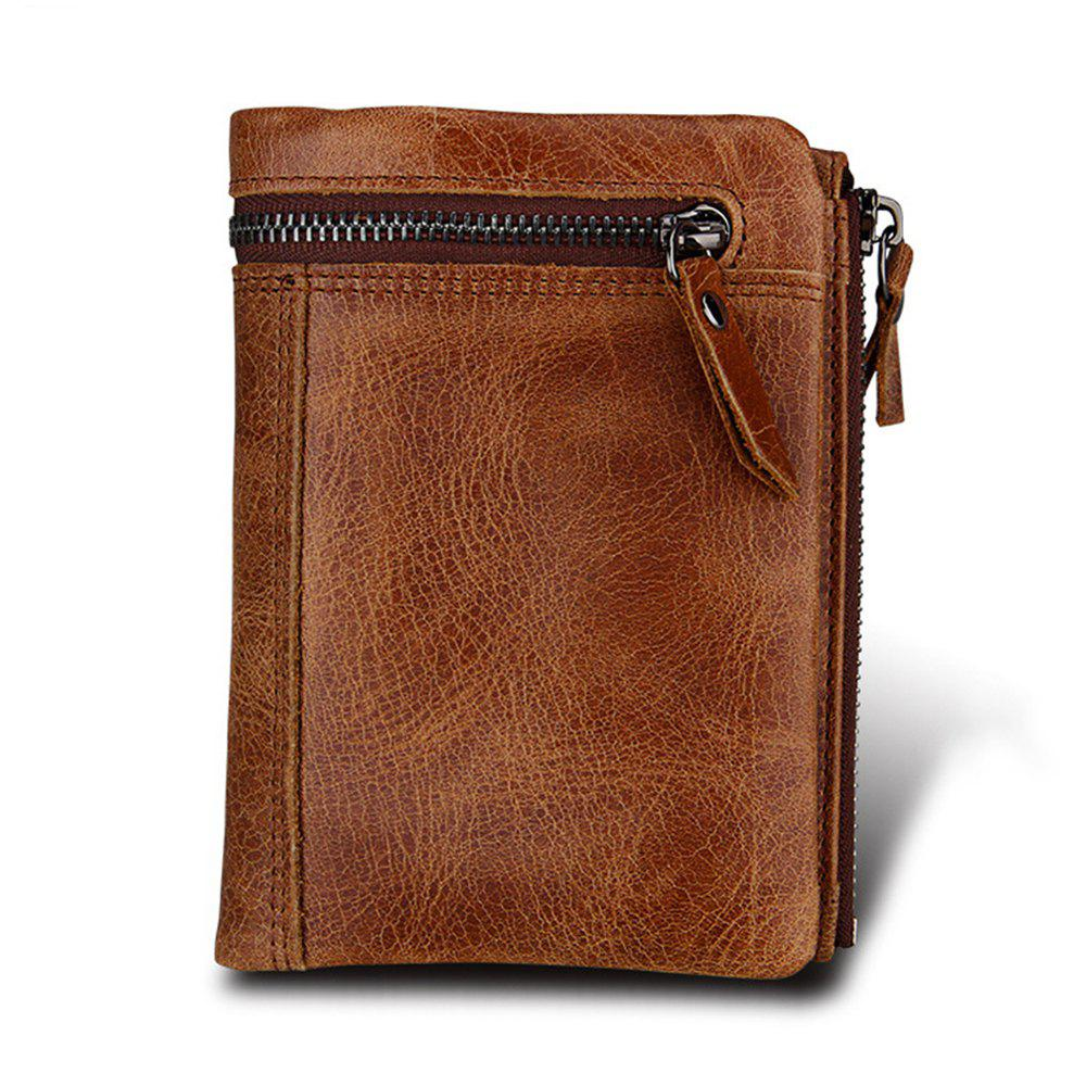 Men Wallet Genuine Leather RFID-blocking Purse