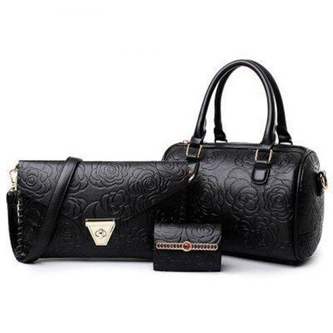 Sale Fashion Embossed Mother Bag Rose Pattern Shoulder Diagonal Handbag