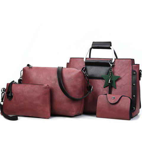 Fancy Women's Fashion Wild Four-piece Shoulder Messenger Bag Handbags