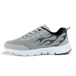 Flame Mesh Flying Men's Sneakers -