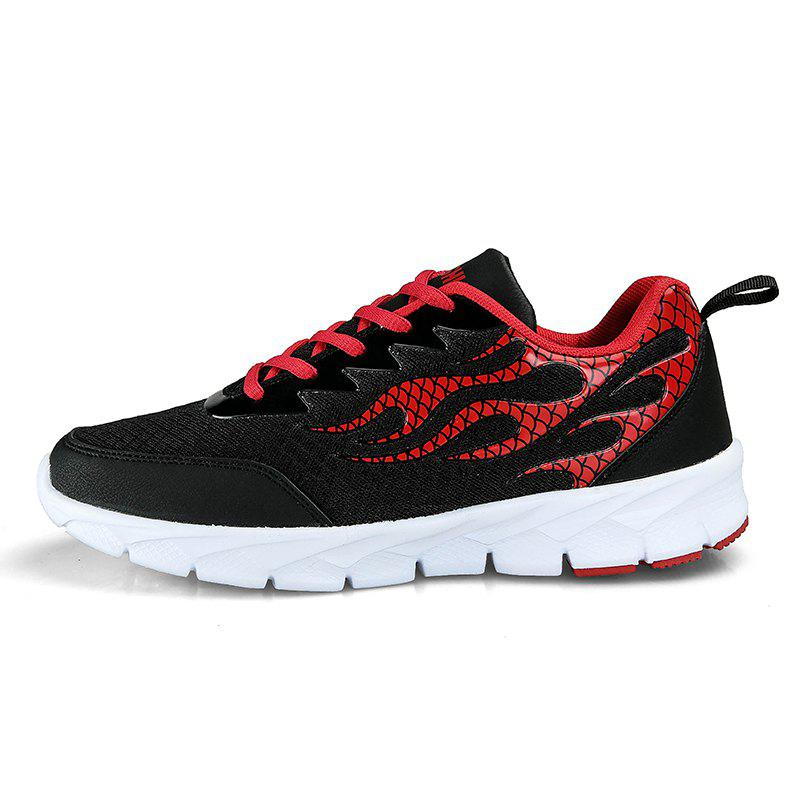 Fashion Flame Mesh Flying Men's Sneakers