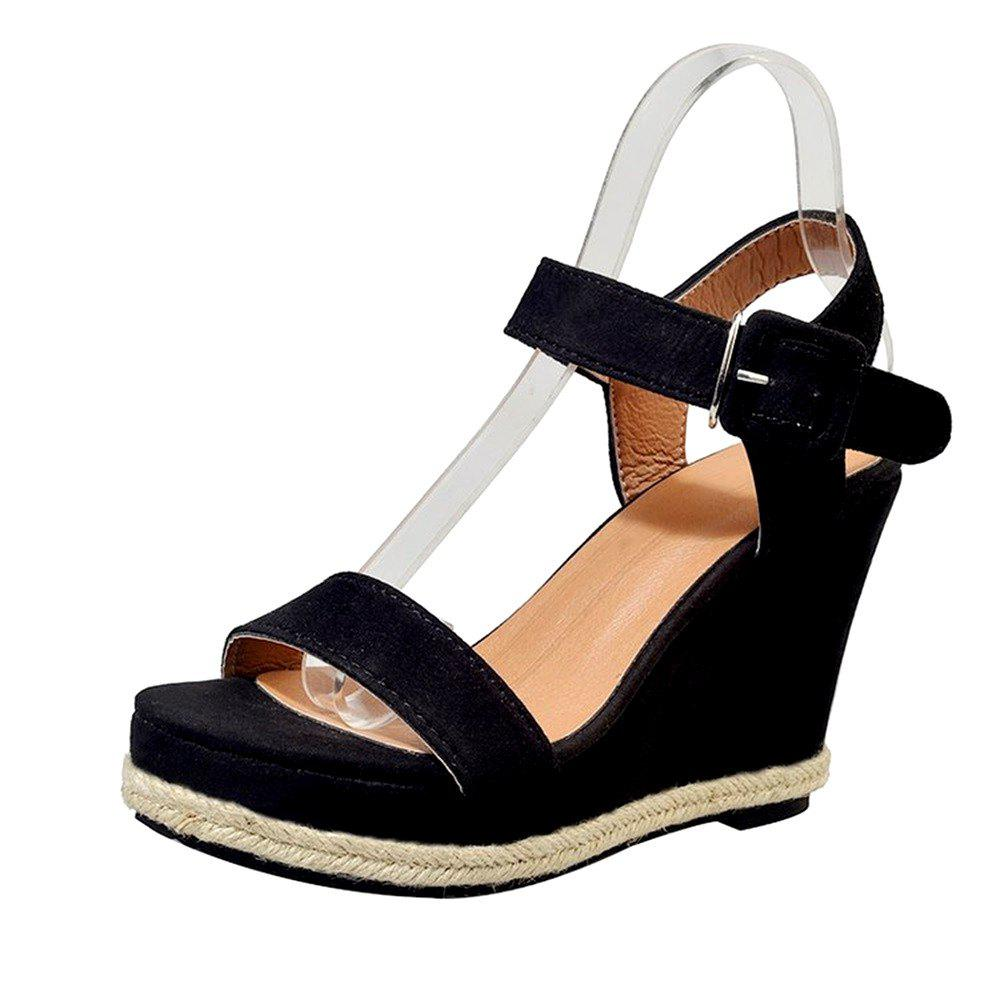Latest Hemp Wedge Suede Sandal Shoes