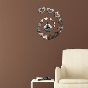 Fashion Creative Wall Clock Mute European Mirror  Stickers -