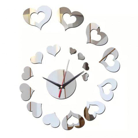 Chic Fashion Creative Wall Clock Mute European Mirror  Stickers