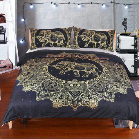 Elephant Literie Housse de couette Set Digital Print 3pcs