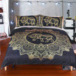 Elephant Literie Housse de couette Set Digital Print 3pcs -