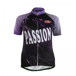 TVSSS Women Summer Short Sleeve Purple Cycling Suit -
