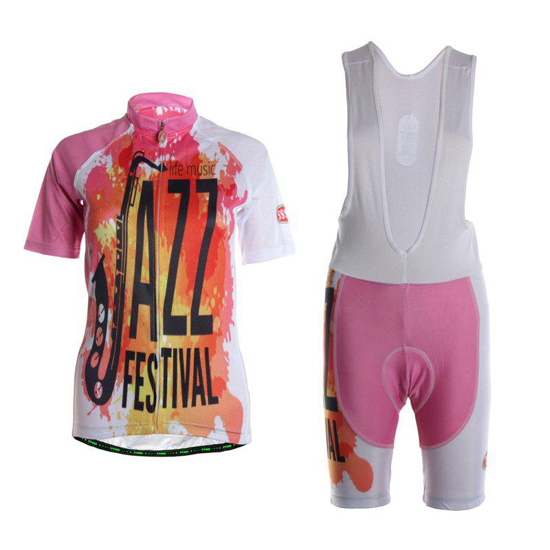 Fashion TVSSS Women Summer Short Sleeve Color Cycling Jersey Suit