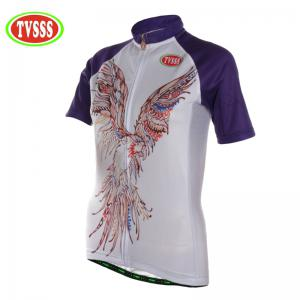 TVSSS Women Summer Short Eagle Pattern Cycling Jersey Suit -
