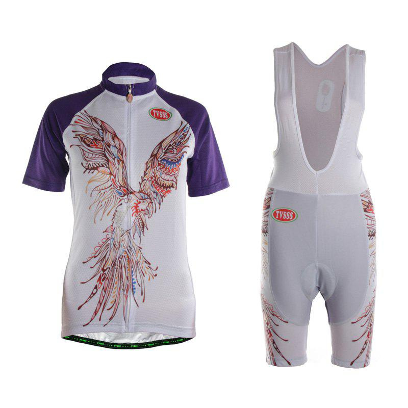 Fancy TVSSS Women Summer Short Eagle Pattern Cycling Jersey Suit