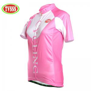 TVSSS Women Summer Short Sleeve Pink Bike T-Shirt -