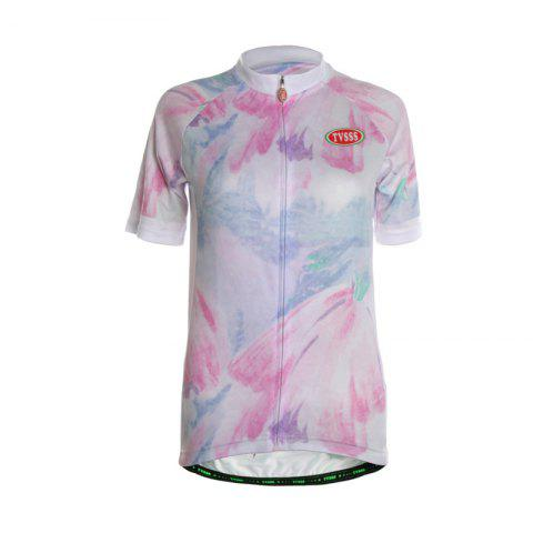 Buy TVSSS Women Summer Short Sleeve Color Graffiti White Cycling Jersey T-Shirt