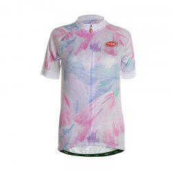 TVSSS Women Summer Short Sleeve Color Graffiti White Cycling Jersey T-Shirt -
