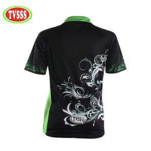 TVSSS Women Summer Short Sleeve Crystal Plant Pattern Black Bike Jersey Suit -