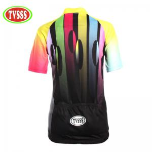 TVSSS Women Summer Short Sleeve Color Cycling Jersey T-Shirt  -