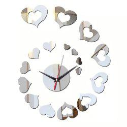 Fashionable Adornment Mirror Stick Creative Wall Clock -