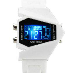 Lucky Family G1166 Lucky Family LED Creative Plane Shaped Watch -