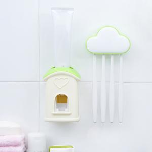 Cloud Cottage Creative Automatic Toothpaste Cartoon Toothbrush Holder Set -