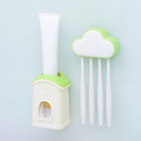 Cheap Cloud Cottage Creative Automatic Toothpaste Cartoon Toothbrush Holder Set