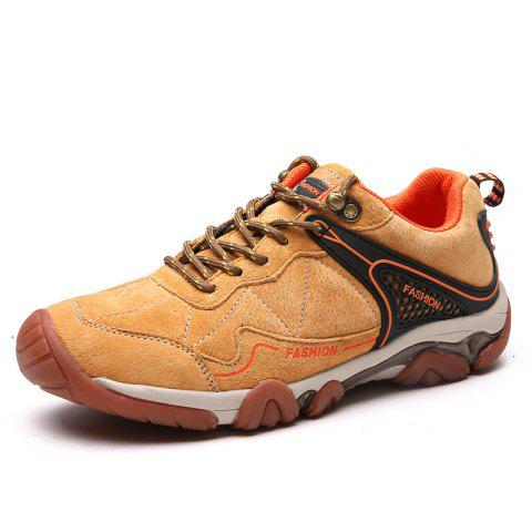 New Men's Metal Button Breathable Non-slip Outdoor Sport Hiking Sneakers