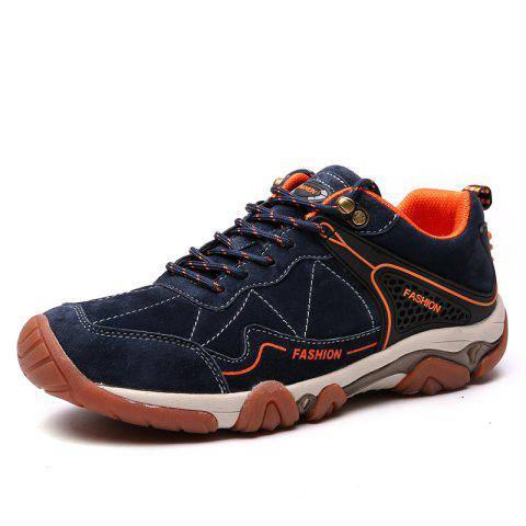 Unique Men's Metal Button Breathable Non-slip Outdoor Sport Hiking Sneakers