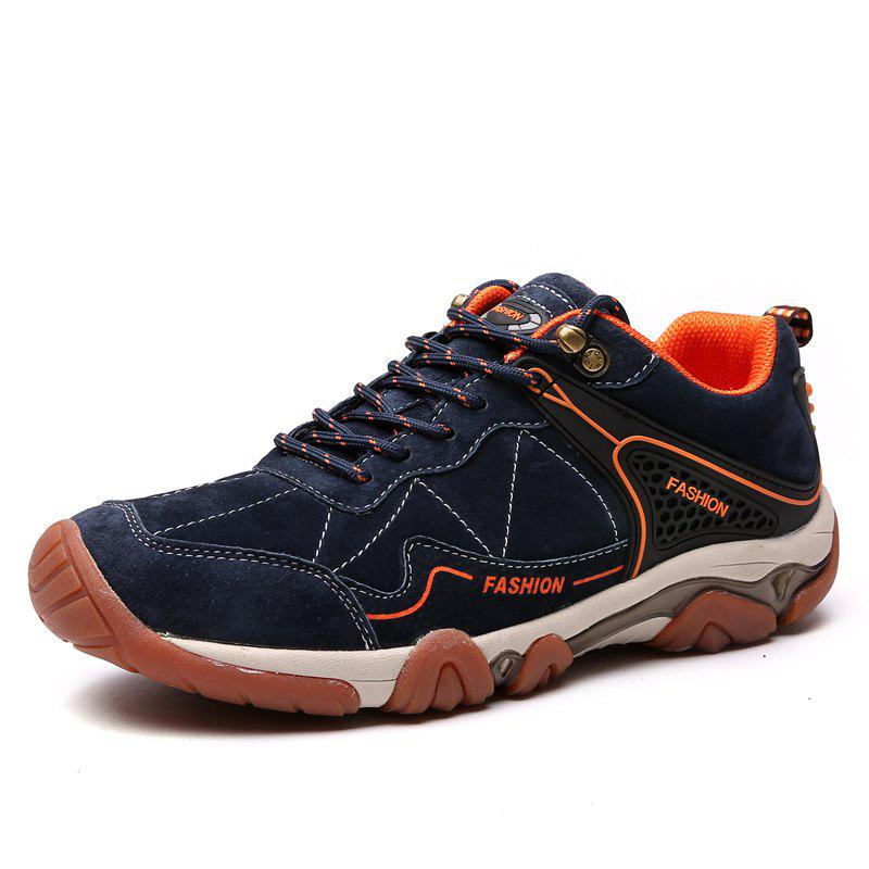 Hot Men's Metal Button Breathable Non-slip Outdoor Sport Hiking Sneakers