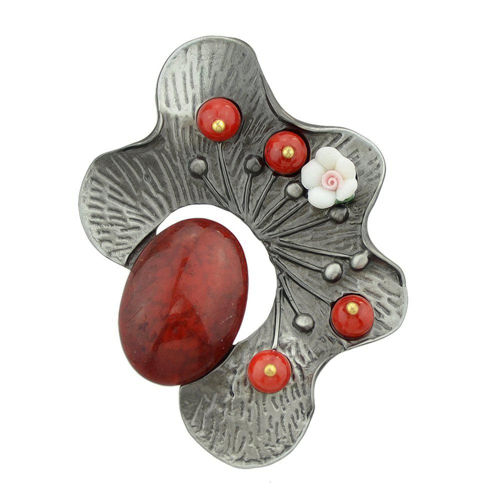 Shop Yellow Red Green Resin Beads Flower Brooch